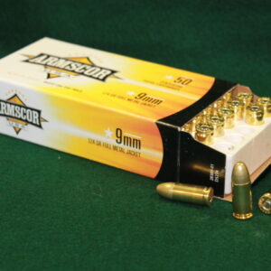Armscor® 9mm, 124gr Full Metal Jacket Ammunition